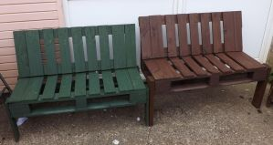 Pair Of Ugly Benches by moather
