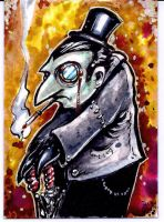 Penguin Sketch card Commission by dsilvabarred
