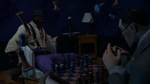 [WIP] Concept Art for Project HACKER - Chess Room2 by EmulatedAbsurdity
