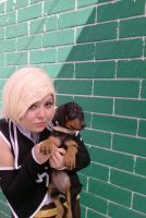 Rin K. with a Dog by Reni-K-Hewer-DuLac