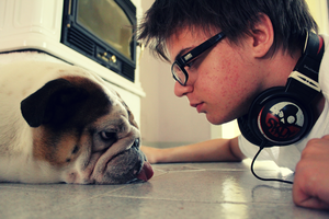 Me and my Dog by Grababi