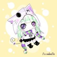 Liquorice White Kitten by Electroocute