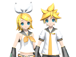 [Arcade Eyes] Kagamine Twins by Dan1024