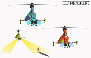 Concept Aerial hunter machine by JinMuller