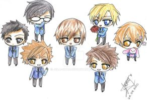 Ouran: Host Club Forever by jelli-chan