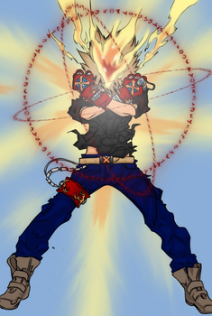 New Power Explodes - Tsuna by X-Shiroh