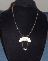 Raccoon and Hematite Stone Necklace by Magelet