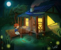 Fishing in the Cabin by marquerbun
