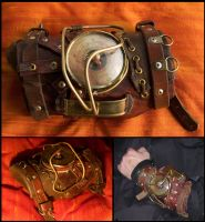 Steampunk Wristlet by SteamMouss