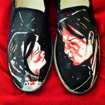 My Chemical Romance Shoes by TheDeviantSketcher