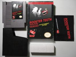 Rooster Teeth NES box by whitehoui