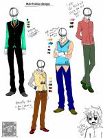 Male clothing designs batch 1 by Akiruo02