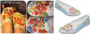 painted shoes buy on zazzle by saltyshadow