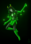 Green Lantern Vriska by Angelia-Dark