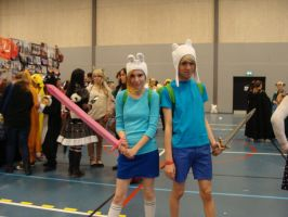 Adventure time cosplay at SVS con 2012 by 77Flower77