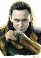 LOKI Tom Hiddleston drawing 2013 Thor by RuggiArt