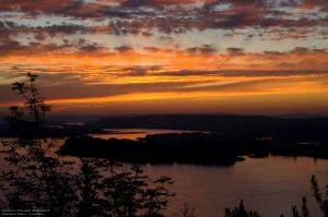 Vista House Sunset by M-L-Griffith