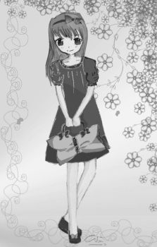 Summer Girl-black n white mode by liva-chan