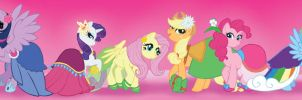 The Mane Six by KiraMizuno