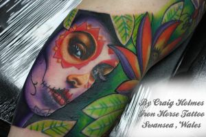 Day of the dead girl by Craig Holmes by CraigHolmesTattoo