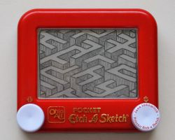 Labyrinth etch a sketch by pikajane