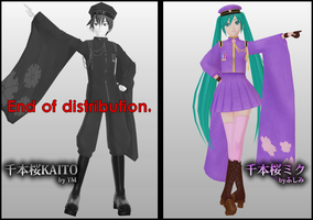 Senbon Zakura Miku and Kaito DL -READ DESC.- by Ruuneka