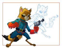 Rocket Raccoon Colour by TicTacFinger