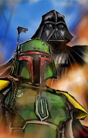 Fett and Vader by mjfletcher