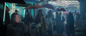 Study from Blade Runner - Streets I by Clauthor