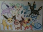 Eeveelutions - Dream World by sazmullium