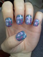 Konad nail deisgn Japanese gir by AngelElementsEtsy