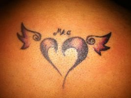 Heart with husbands initials tattoo by clearfishink