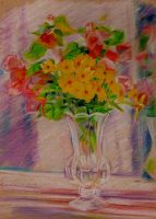 Flowers in a Small Vase by 80sdisco