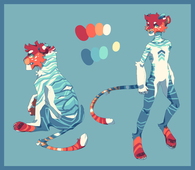 Fire and Ice Tiger Adopt - OTA [closed] by Lord-StarryFace