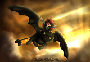 Ride with Toothless by riicebunnii