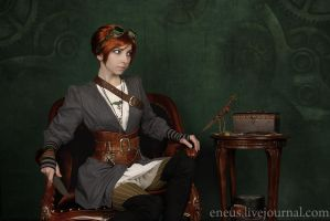 Steampunk girl by GallaGadget