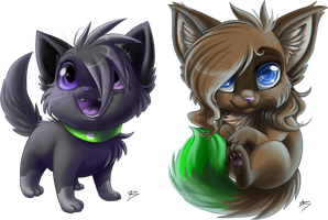 Com: Chate and Lucy by DragginCat