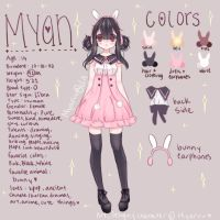 Myan reference sheet [+speedpaint] by Myaruu