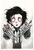 Edward Scissorhands CU by krazyminor2011