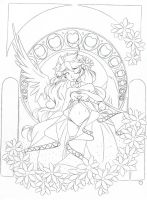 Full Heart .:Lineart:. by Angelic-Blossoms