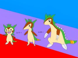 Chespin evolutions by Mike39201
