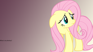 Fluttershy Final 16 9 PNG by dumbrock1