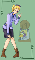 Club Penguin - Dot the Disguise Gal [Humanized] by GalaxiasHM