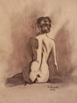 female figure drawing #3 by Xezra