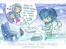 Valentine's Day in Sea Palace by zeldacw
