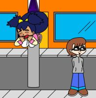 Street Pole Wedgie by Animekid0839