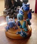 Squirtle's family line. by dobharachu