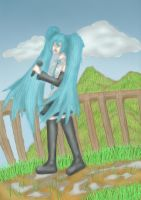 Hatsune Miku - Sing from the Mountain Tops by anime-halo