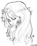 Poison Ivy Head sketch by ComfortLove