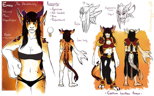 Emno character sheet by Cecaangyal